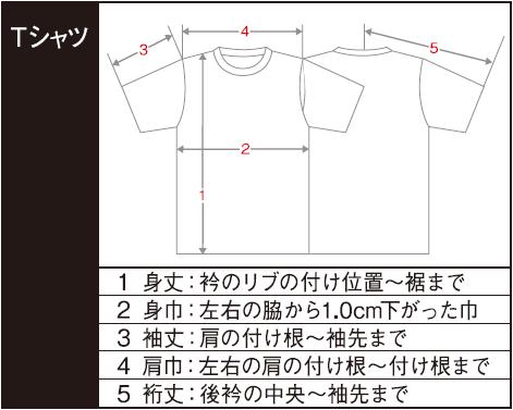 Tシャツ寸法の計り方